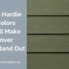 James Hardie modern siding colors